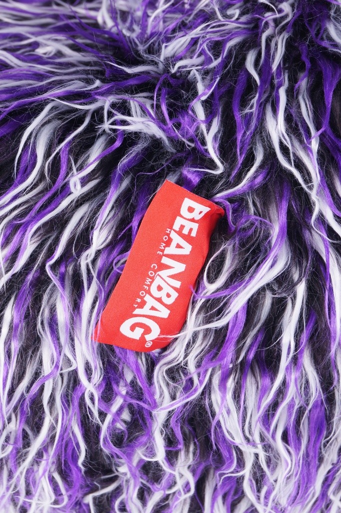 Sedací vak Shaggy Multicolor white-black-purple
